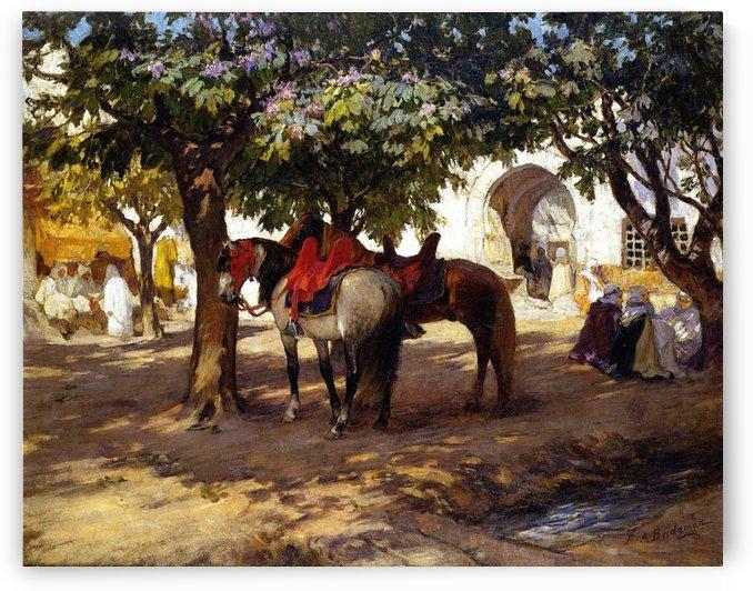 Oriental yard by Frederick Arthur Bridgman