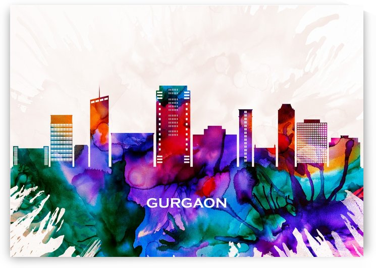 Gurgaon Skyline by Towseef