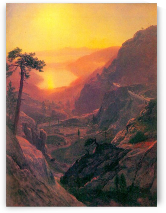 Donner Lake by Bierstadt by Bierstadt