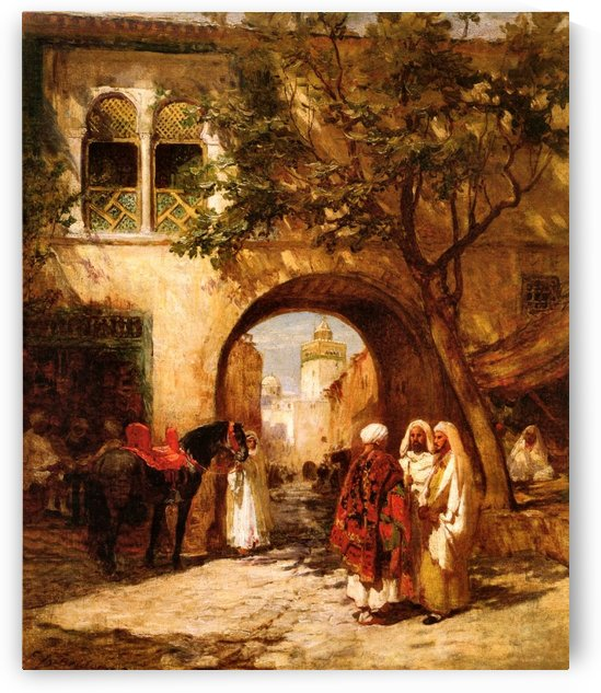 By the city gate by Frederick Arthur Bridgman