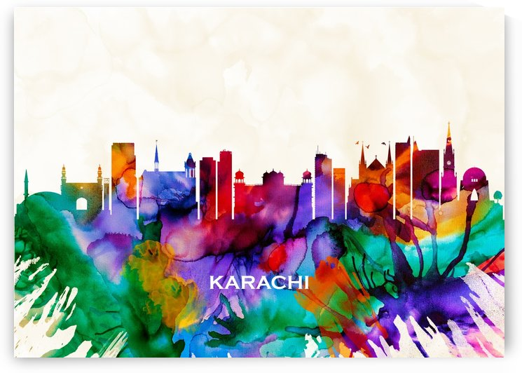 Karachi Skyline by Towseef
