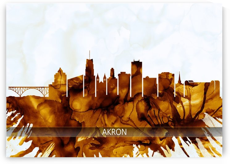 Akron Ohio Skyline by Towseef