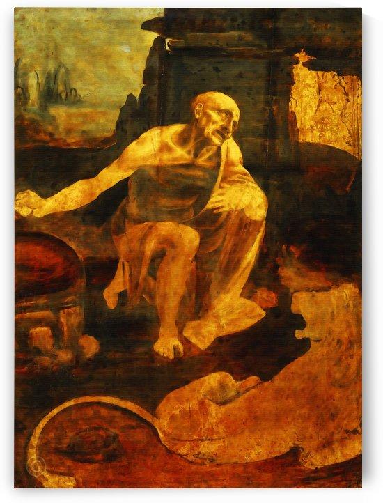 Saint Jerome by Leonardo da Vinci  by Classic Painting