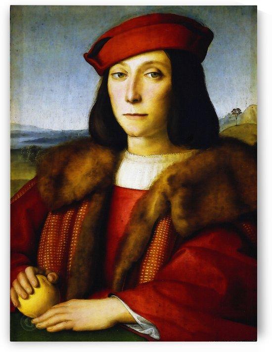 Raffaello Sanzio da Urbino) Raphael (Raffaello Santi – Portrait of a Man, thought to be Francesco Maria della Rovere by Classic Painting