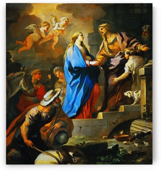 The Visitation by Luca Giordano  by Classic Painting