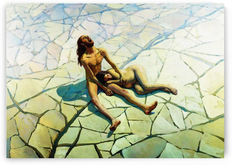 Adam and Eve. Paradise Lost by Pavel Popov    by Classic Painting