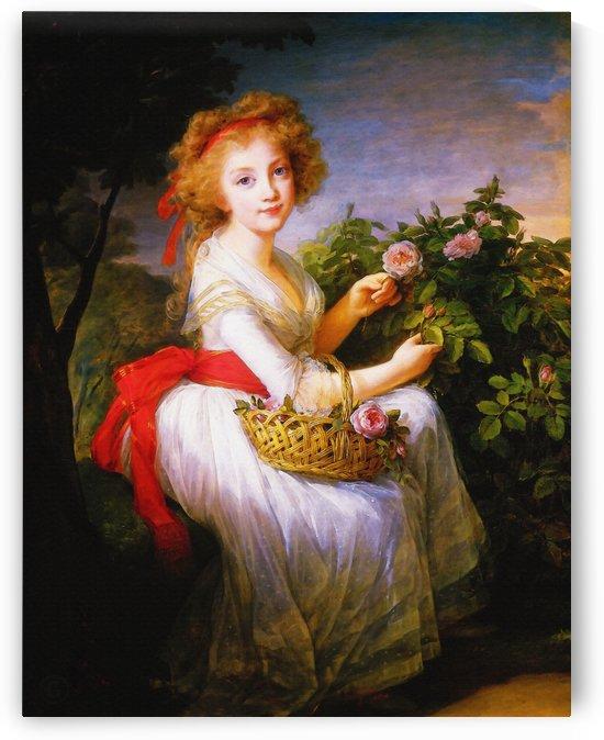 Élisabeth Louise Vigée Le Brun – Maria Christina de Bourbon Naples by Classic Painting