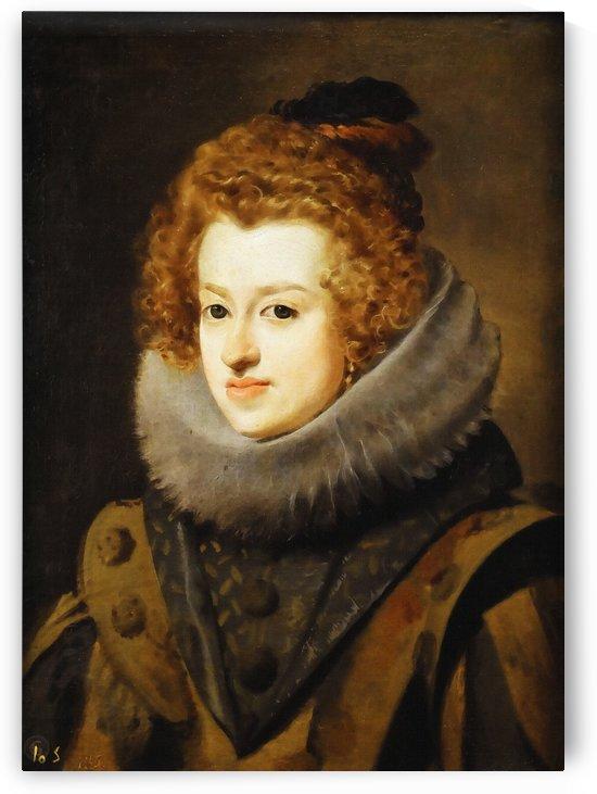 Diego Rodriguez De Silva y Velazquez – María de Austria, reina de Hungría by Classic Painting