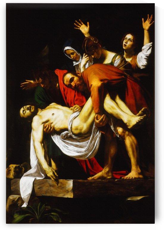 Michelangelo Merisi da Caravaggio – Entombment by Classic Painting