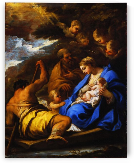 The Flight into Egypt by Luca Giordano    by Classic Painting