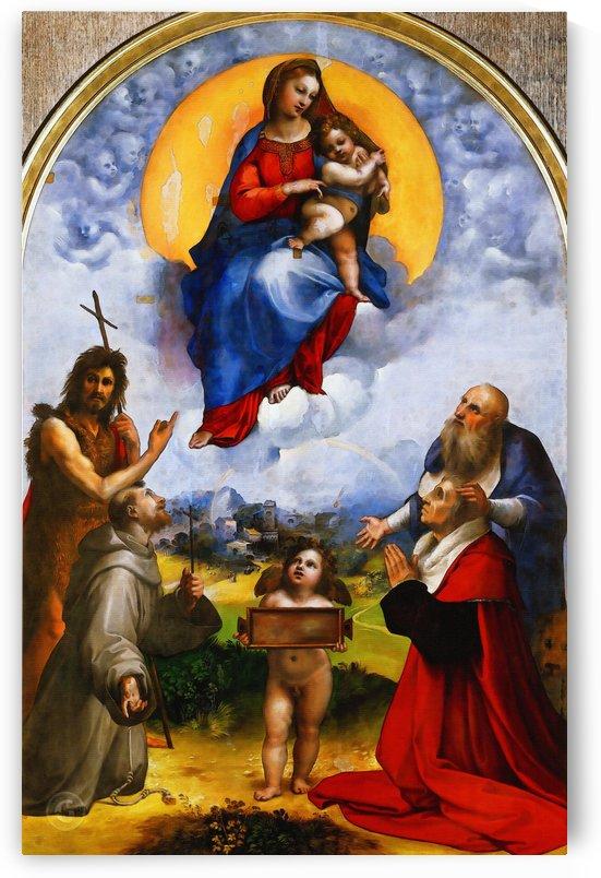 Raffaello Sanzio da Urbino) Raphael (Raffaello Santi – Madonna di Foligno by Classic Painting