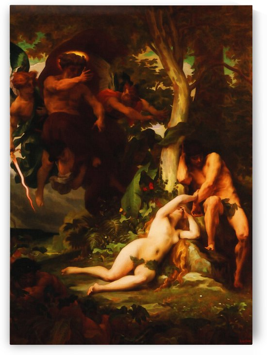Alexandre Cabanel – The Expulsion of Adam and Eve from the Garden of Paradise by Classic Painting