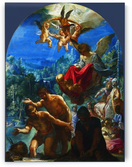 The Baptism of Christ by Adam Elsheimer  by Classic Painting