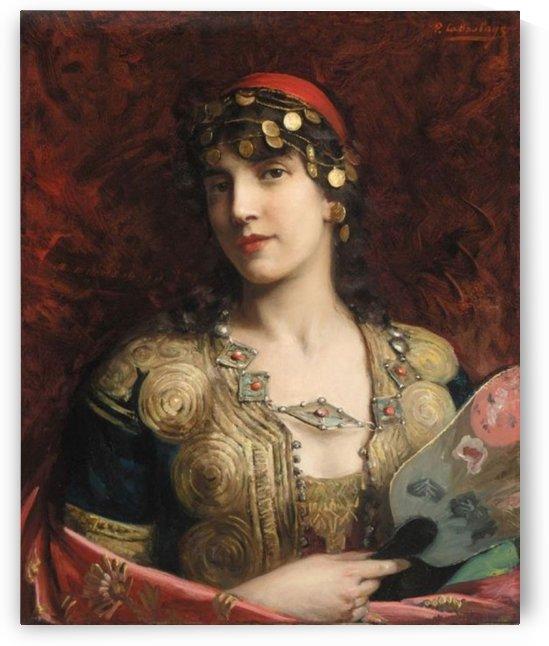 The women with jewlery by Frederick Arthur Bridgman