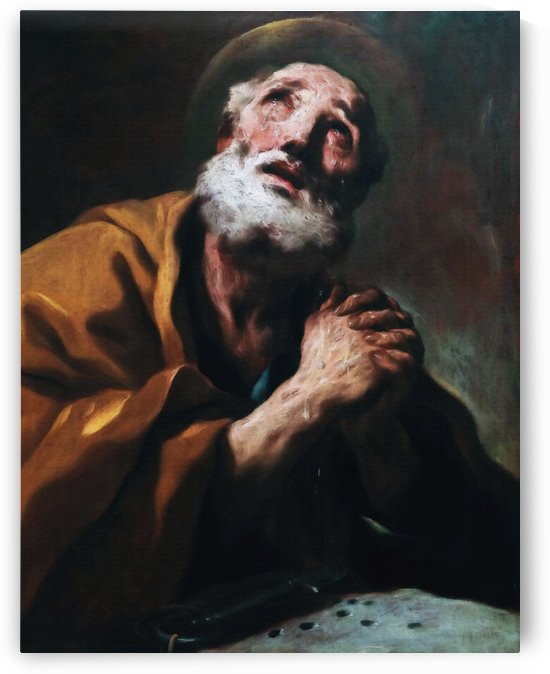San Pedro arrepentido o Las lagrimas de San Pedro by Luca Giordano  by Classic Painting