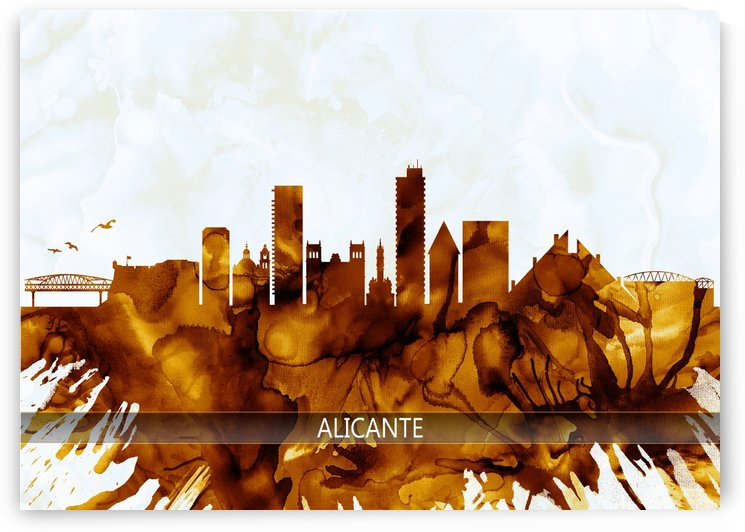 Alicante Spain Skyline by Towseef Dar