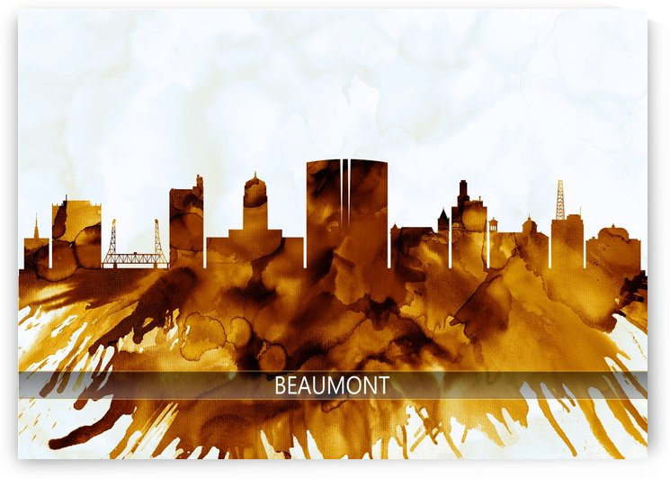 Beaumont Texas Skyline by Towseef