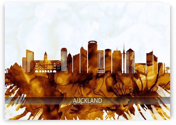 Auckland New Zealand Skyline by Towseef