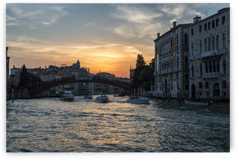 Classic Venetian - Sunset Sail towards the Accademia Bridge on the Grand Canal by GeorgiaM