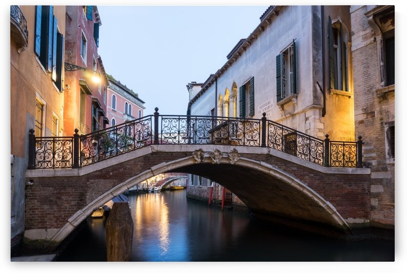 The Magic of Small Canals in Venice Italy - Beneath a Charismatic Wrought Iron Bridge by GeorgiaM