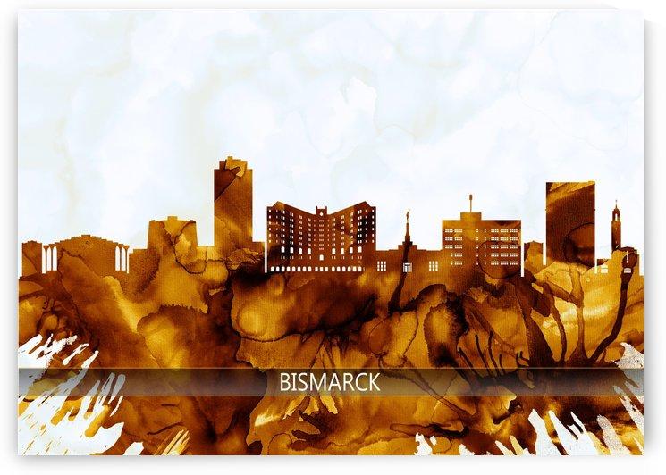 Bismarck North Dakota Skyline by Towseef