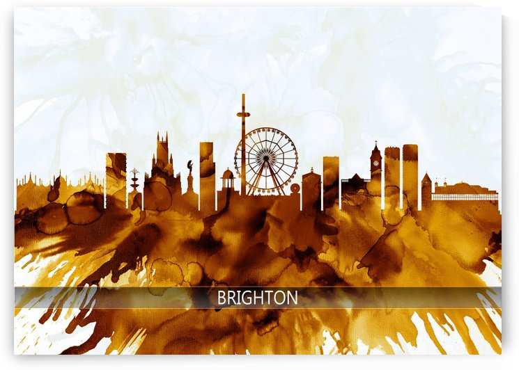 Brighton England Skyline by Towseef