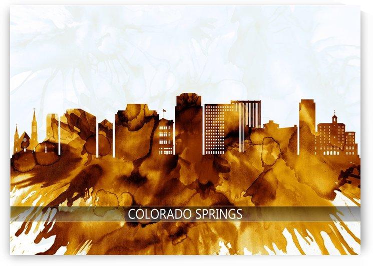 Colorado Springs Colorado Skyline by Towseef