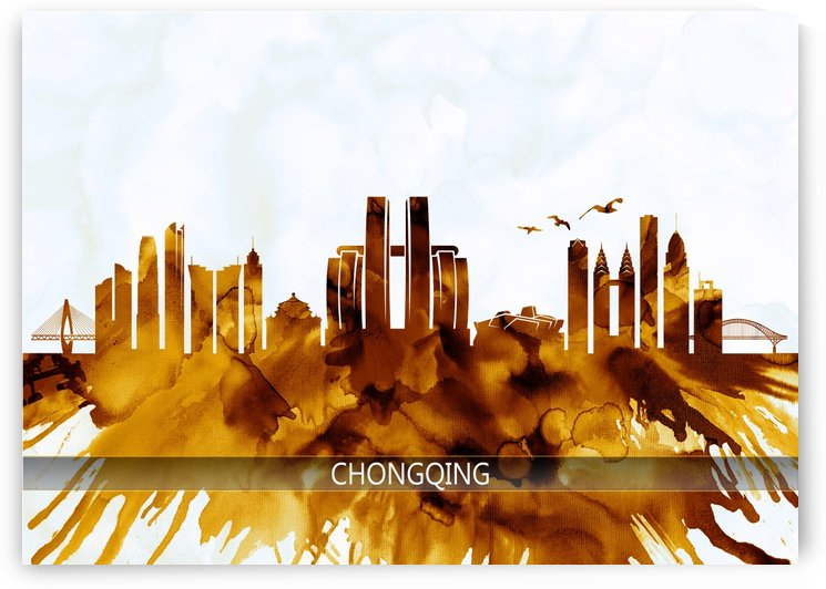 Chongqing China Skyline by Towseef Dar