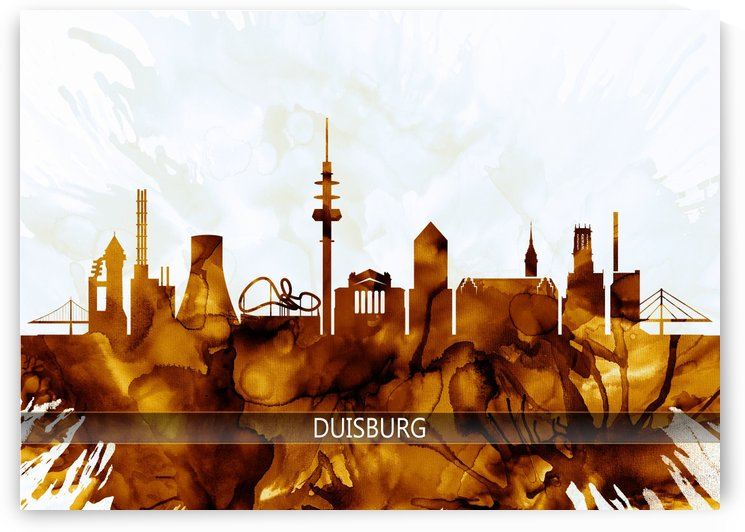 Duisburg Germany Skyline by Towseef