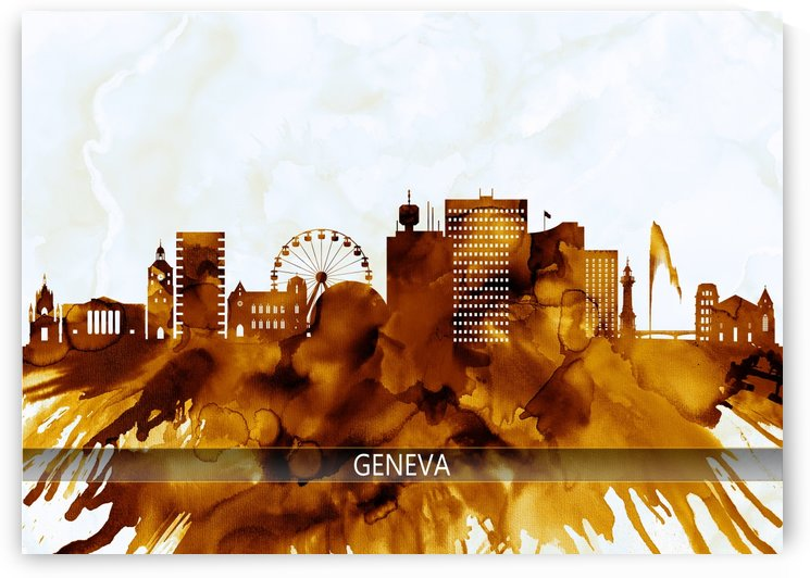 Geneva Switzerland Skyline by Towseef Dar