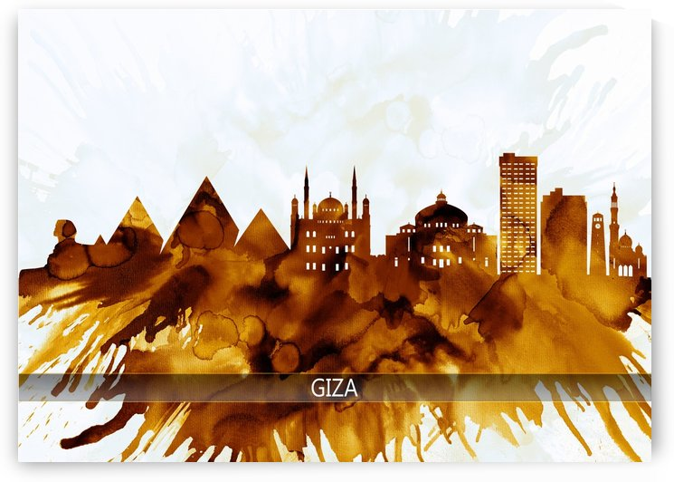 Giza Egypt Skyline by Towseef Dar