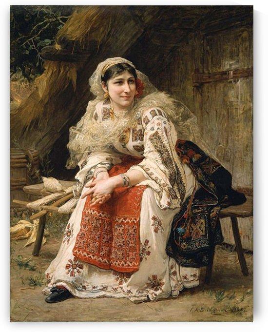 Romanian Lady by Frederick Arthur Bridgman