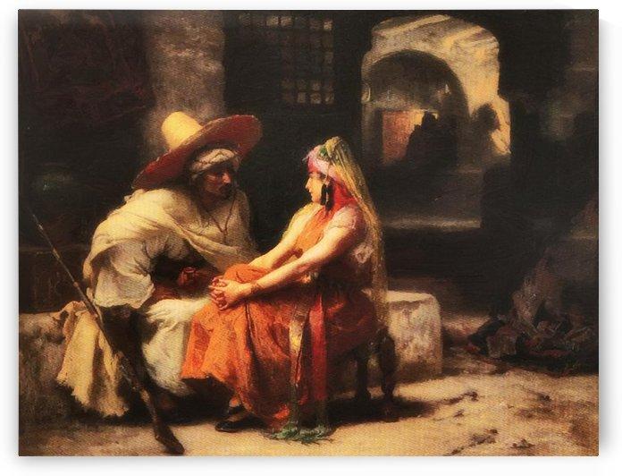 Romantic couple by Frederick Arthur Bridgman