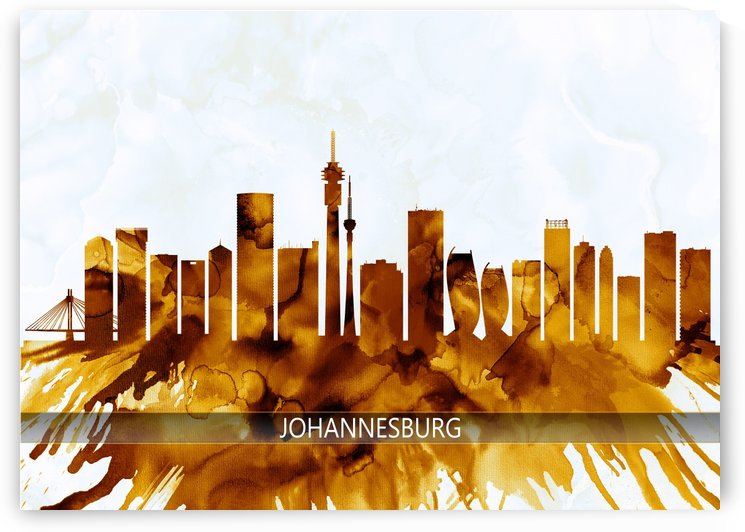 Johannesburg South Africa Skyline by Towseef