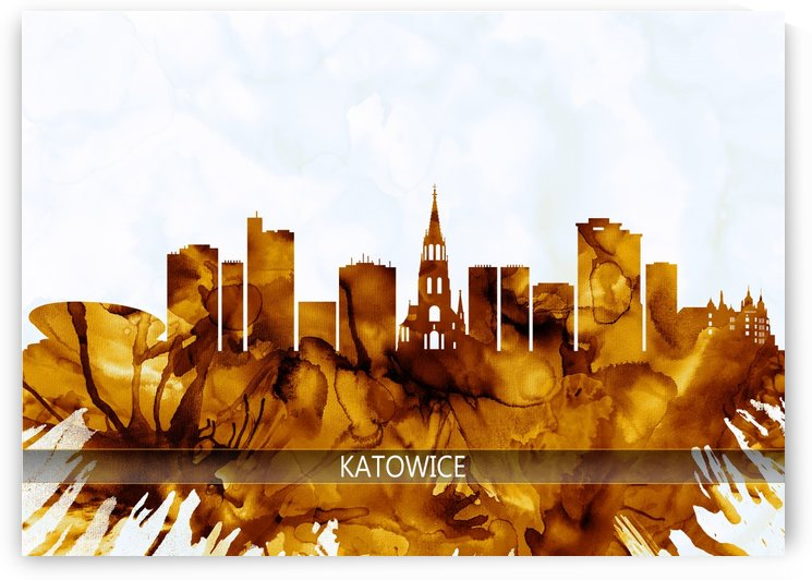 Katowice Poland Skyline by Towseef Dar