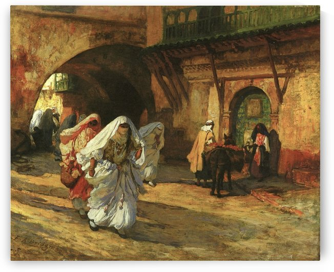 Women in the street by Frederick Arthur Bridgman