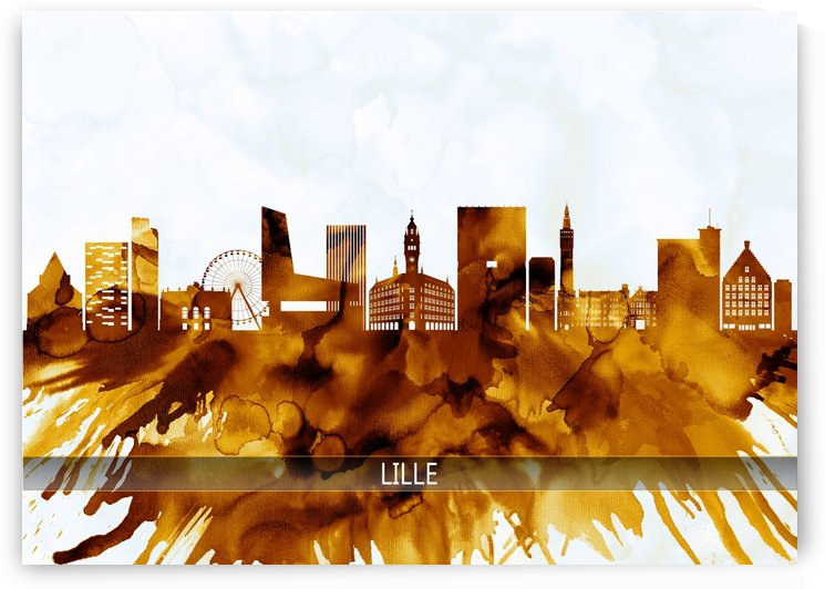 Lille France Skyline by Towseef Dar