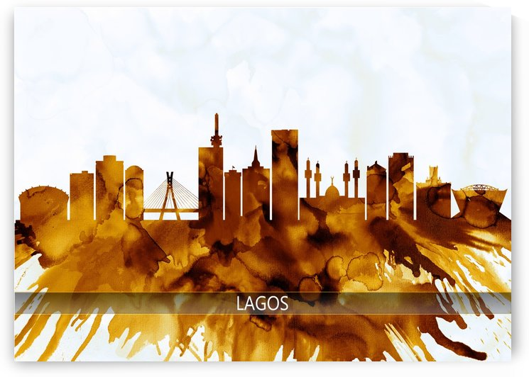 Lagos Nigeria Skyline by Towseef