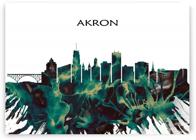 Akron Skyline by Towseef Dar