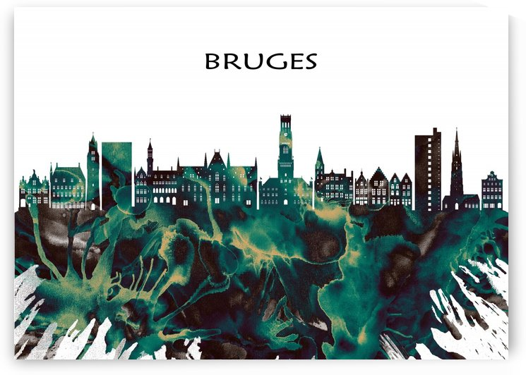 Bruges Skyline by Towseef Dar