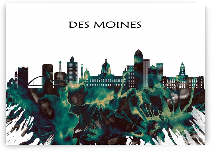 Des Moines Skyline by Towseef