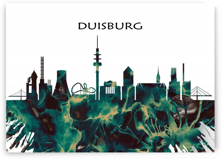 Duisburg Skyline by Towseef Dar