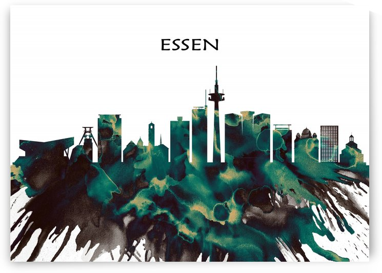 Essen Skyline by Towseef Dar