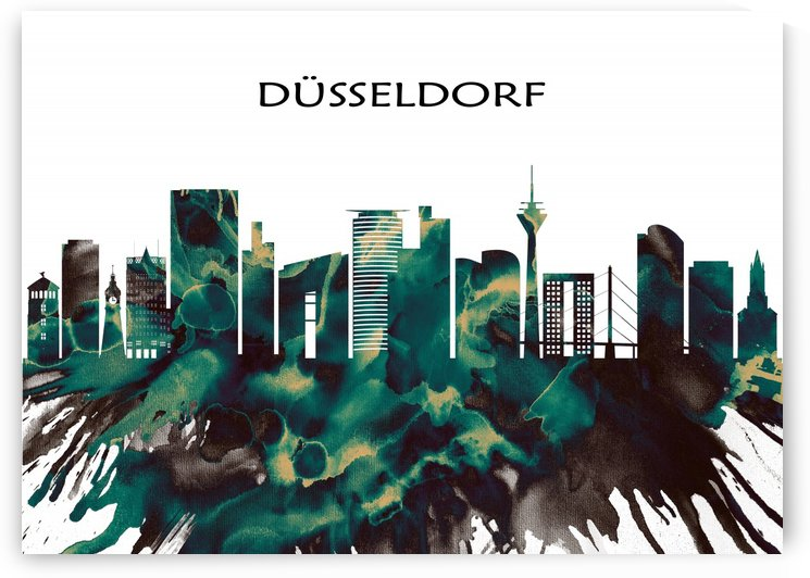 Dusseldorf Skyline by Towseef Dar