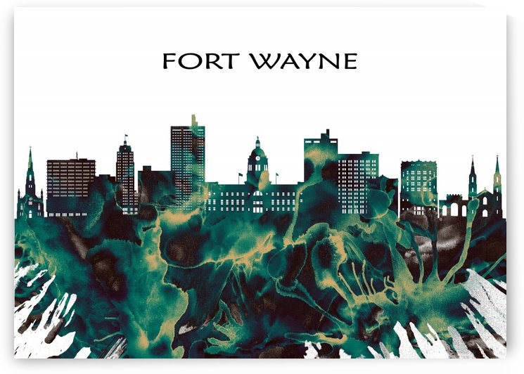 Fort Wayne Skyline by Towseef Dar