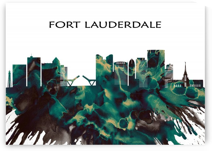 Fort Lauderdale Skyline by Towseef Dar