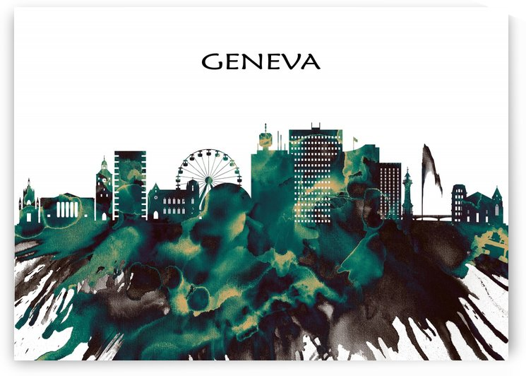 Geneva Skyline by Towseef Dar
