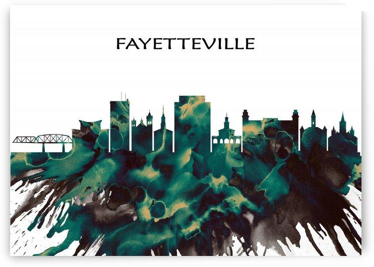 Fayetteville Skyline by Towseef Dar