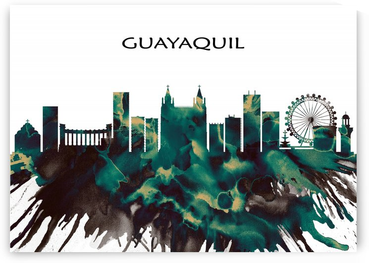 Guayaquil Skyline by Towseef Dar