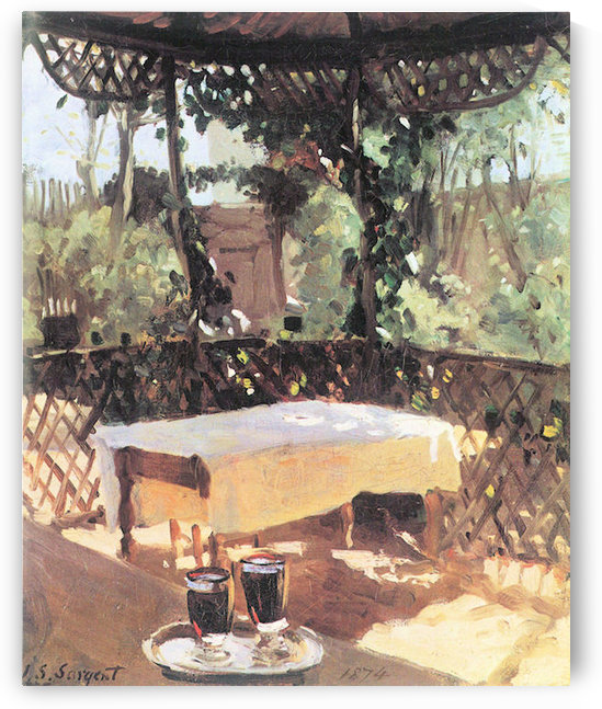 Two wine glasses by John Singer Sargent by John Singer Sargent